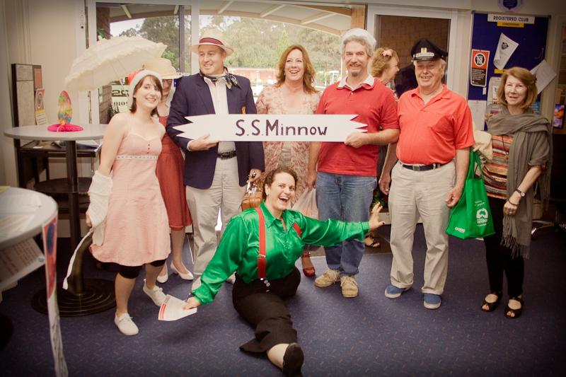 SS Minnow comes to Castle Hill Bowling Club