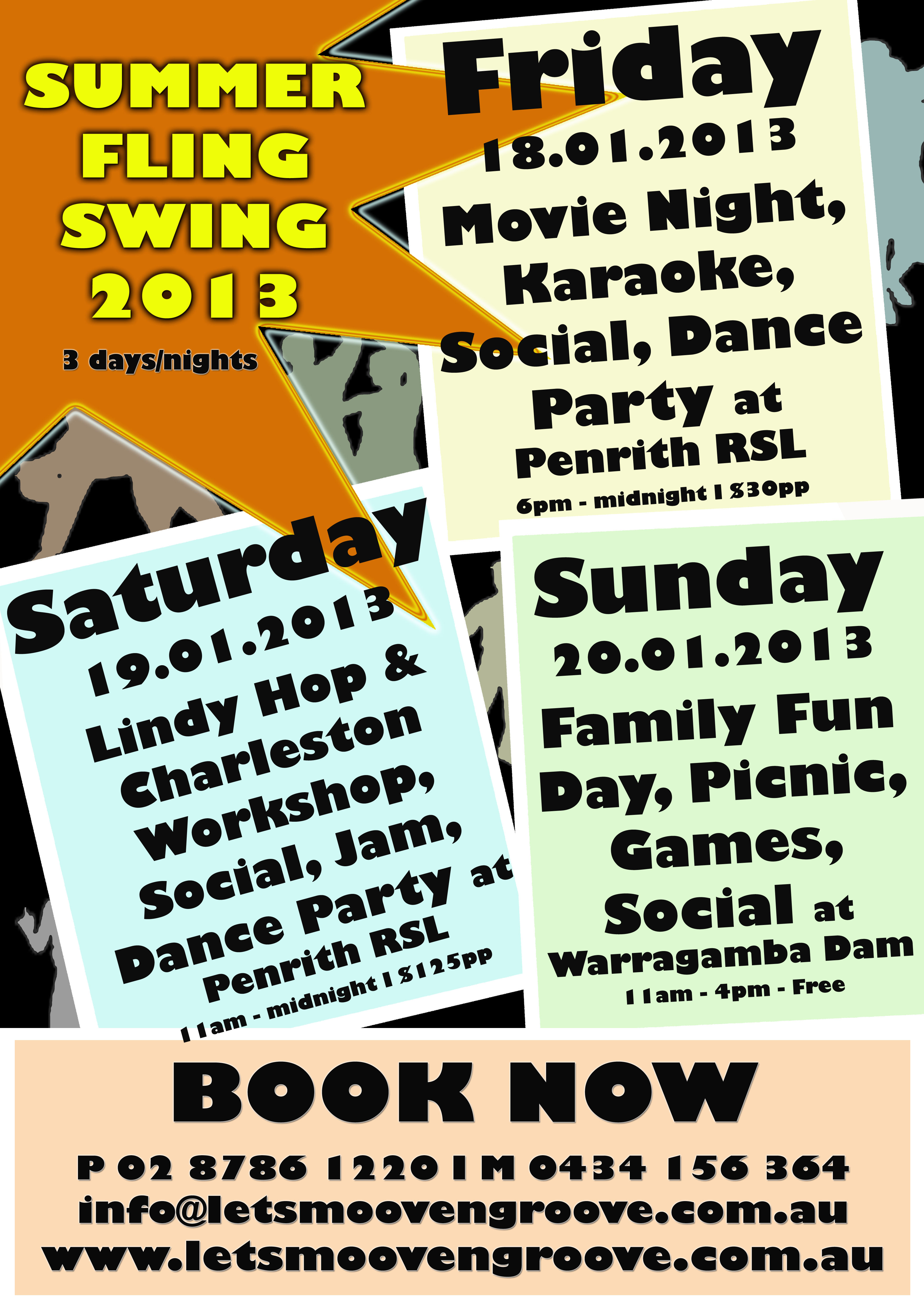 Summer Fling Swing 2013, get ready to have a fling with swing!